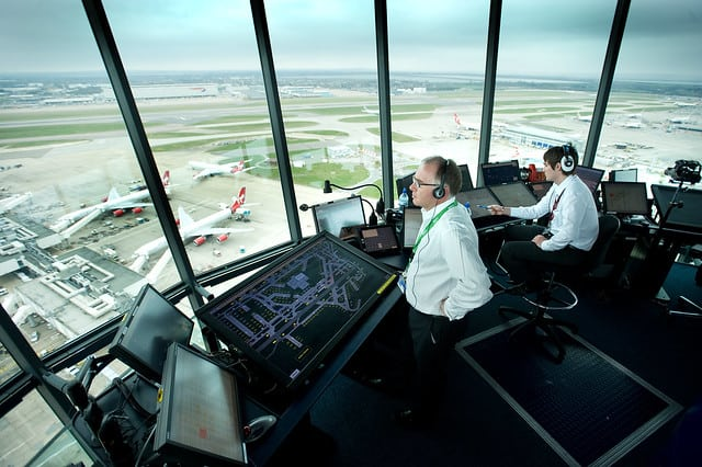 two air traffic controllers
