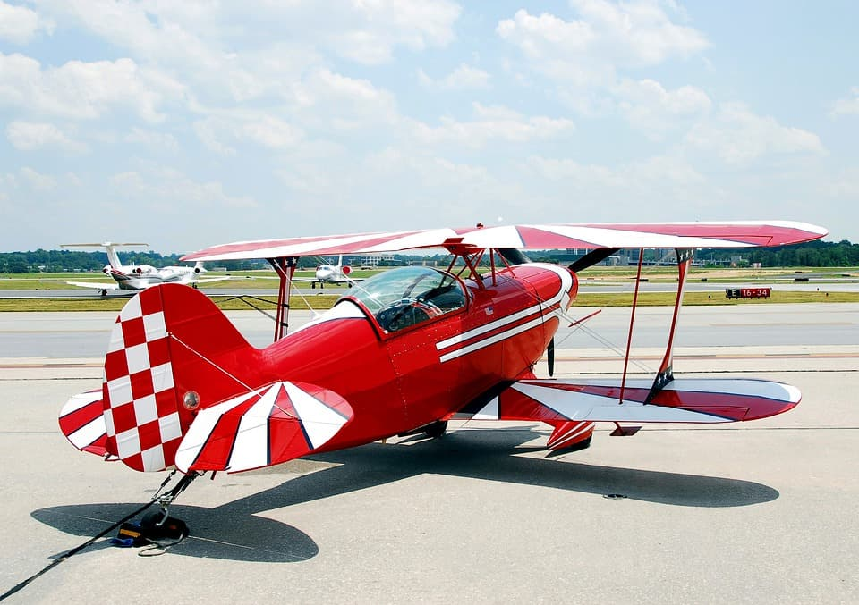 red plane to be used for aviation careers